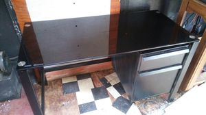 Metal and glass desk for Sale in Jesup, GA