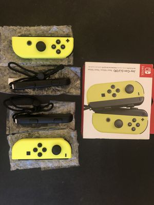 Nintendo Switch Joy Con Controllers Neon Yellow for Sale in Los Angeles, CA