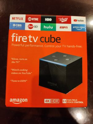 Brand new Fire tv Cube 4K with kodi Xanax build for Sale in Huntingdon Valley, PA
