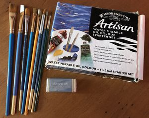 Oil Color Paint Starter Sety and Paint Brush Bundle for Sale in Riverview, FL