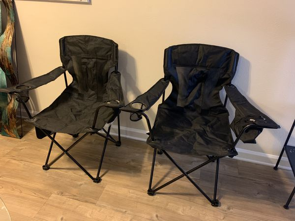 Portable folding Chairs w/built in cooler $25 each