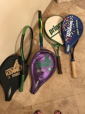 Pro Kennex Finesse, Pro Kennex Odyssey 95, Prince Classic 110, Wilson Pro Star tennis rackets for Sale in Tampa, FL