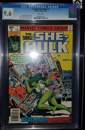 She-HULK 1st Series #2 cgc 9.6 for Sale in Seattle, WA