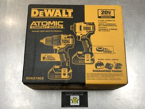 Dewalt Atomic Series 20V Drill and Impact Driver Kit for Sale in Pompano Beach, FL