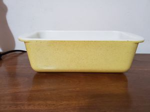 Yellow desert dawn loaf pan pyrex for Sale in Lathrop, CA