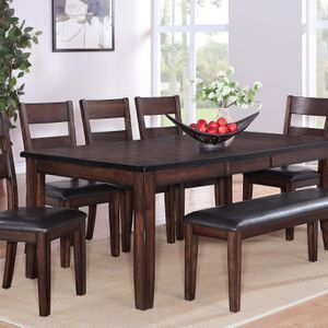 Solid Wood Table, 4 Chairs & Bench for Sale in Glendale, AZ