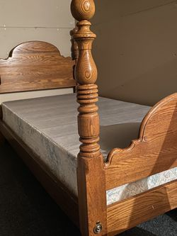 Twin Wooden Bed Frame & Box Spring for Sale in Southington,  CT