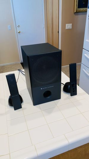 The VS4121 2.1 Channel Stereo Computer Speakers with subwoofer from Altec Lansing is a 2.1 channel speaker system with 31W of RMS power. for Sale in Corona, CA