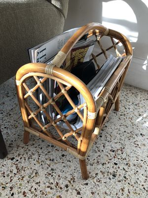 Bamboo magazine rack. for Sale in West Palm Beach, FL