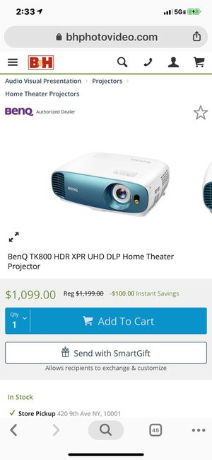 BenQ projector. Excellent condition. Unmatched price for Sale in Washington, DC