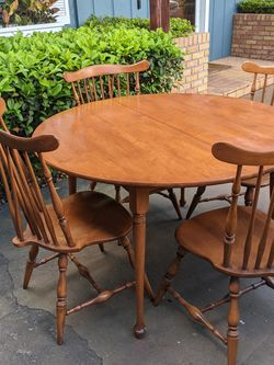 Heywood Wakefield Vintage Solid Wood Table And Chairs And Leaf for Sale in Apopka,  FL