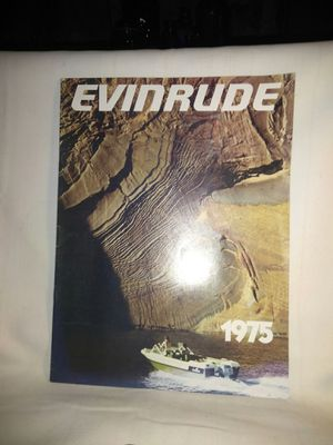 Vintage EVINRUDE Outboard Boat Motor Sales Brochure Booklet Book item # 3630 FREE SHIPPING for Sale in Port Huron, MI