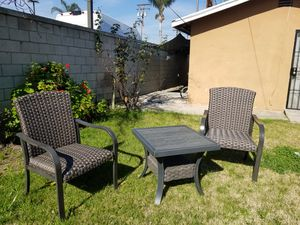 2 new wicker chair and 1 new side table for Sale in El Monte, CA