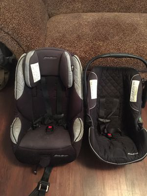 Eddie Bauer infant car seat and grow with you car seat. for Sale in Canehill, AR