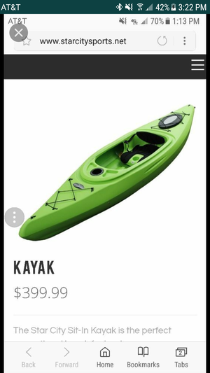 10ft kayak no paddle for Sale in Sanger, CA