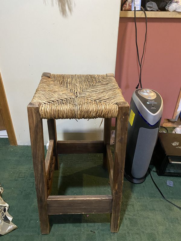 Wooden chair stool