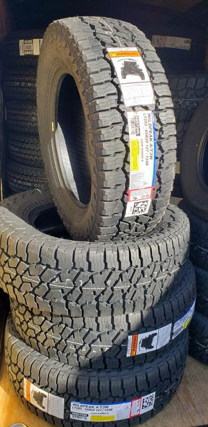4 New 285/65/20 Falken Wildpeak AT3 Tires LT285 Load E 10ply 80psi R20 inch tire for Sale in Moreno Valley, CA