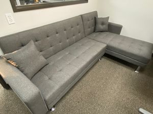 Sectional Sofa Bed, Gray for Sale in Santa Fe Springs, CA
