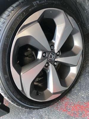 Rims and tires 19x8 5x114 got Honda acord touring Civic crv element for Sale in Santa Ana, CA