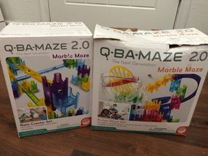 Q Ba Maze set of 2 - marble toy - action stunt set and rails creator set for Sale in Buckeye, AZ