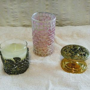 3 Unique Candles /Holders for Sale in Citrus Heights, CA