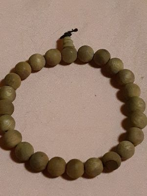 "8.5"" unisex camphor wood prayer beads bracelet hand mala for Sale in Entiat, WA"