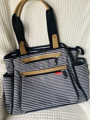 Skip Hop Diaper Grand Central Bag Tote, Black & White Stripe for Sale in Chandler, AZ