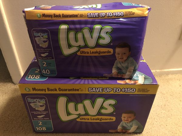 Luv's diapers size 2