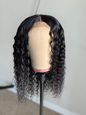 Curly Closure Human Hair Wig for Sale in Washington, DC