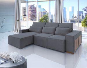 BRAND NEW // Apreciatto Dark Gray Fabric Retractable and Reclining Sofa for Sale in Tamarac, FL