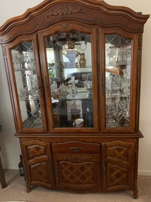 Buffet China Hutch Cherry Wood for Sale in San Jose, CA