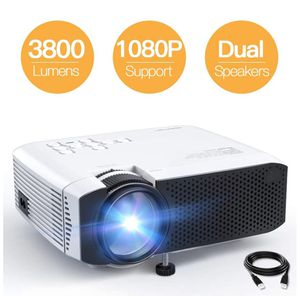 """Mini Portable Projector, 3800L 1080P Supported Projector, Max 180"""" Display with 45,000Hrs LED Life, Compatible with TV Stick, PS4, HDMI, TF, AV, USB for Sale in Rancho Cucamonga, CA"""