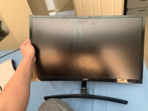 (CRACKED ) ACER GAMING CURVED 144 GHZ MONITOR LCD for Sale in Tracy, CA