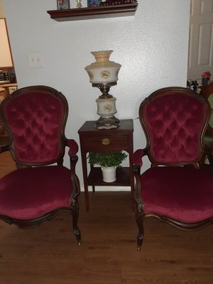 Mr. And Mrs. Antique chair's for Sale in San Antonio, TX