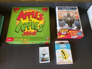 4 family kids board and card games for Sale in Galloway, NJ