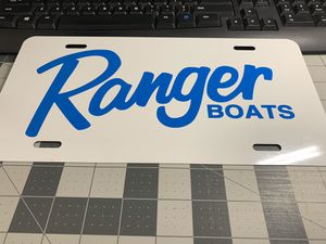 Ranger Boats Bass Boat Aluminum tags custom made for Sale in Barrington, NJ