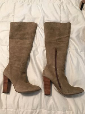 Size 8 tan leather suede boots for Sale in Nashville, TN
