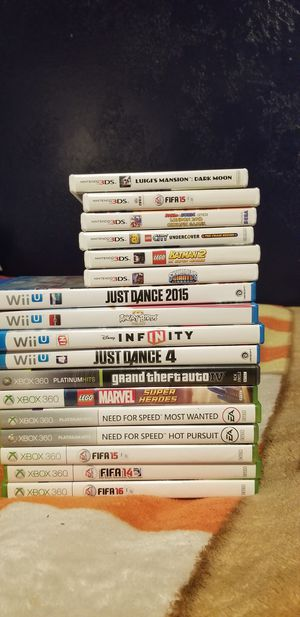 There are some Wii U, xbox 360, Nintendo 3ds games they all work good for Sale in Magna, UT