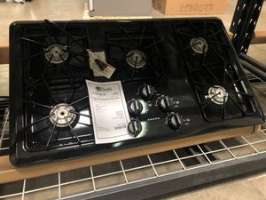 1 YR Warranty! Amana Cooktop 5 Burner Black #1956 for Sale in Gilbert, AZ