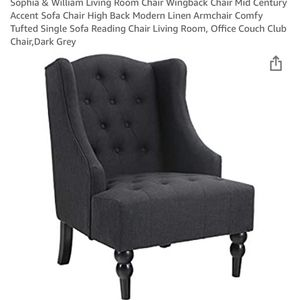 DARK GRAY LIVING ROOM CHAIR for Sale in Woodbridge, VA