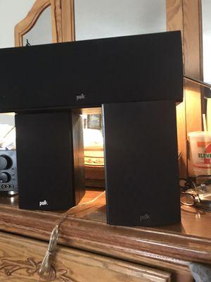 $220.00 Polk audio 🐥. One center speaker one right and one left for Sale in West Jordan, UT