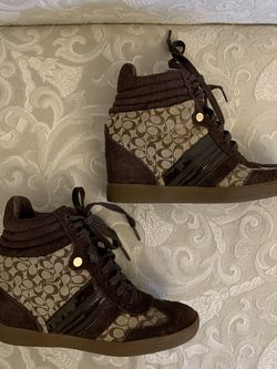 "Coach ""Alara"" Wedge Sneakers, 7.5 for Sale in Atlanta,  GA"