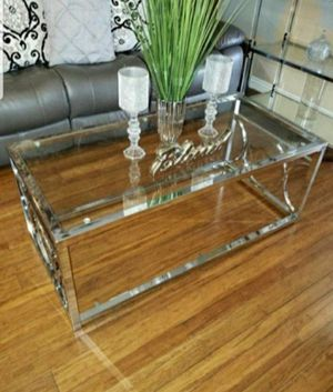 Coffee Table in Chrome for Sale in Ontario, CA