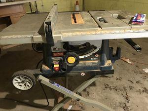 "Ryobi 10"" table saw for Sale, used"