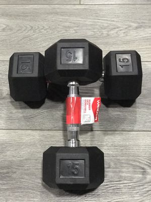 2 - 15 pound dumbbells- Brand New for Sale in Massillon, OH