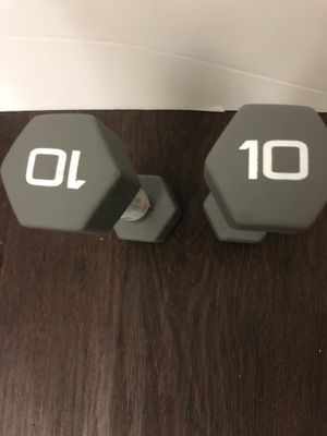 Set of 10lb grey Dumbbell Pair - 20lbs Total for Sale in Oakland, CA