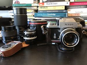 1968 Nikon F Photomic T + Lenses and Accessories — Excellent Condition for Sale in San Luis Obispo, CA