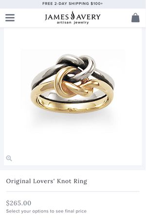 Original Lover's Knot Ring- James Avery for Sale in Alexandria, VA