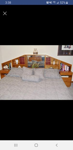 5 piece solid oak bedroom set for Sale in Denver, CO