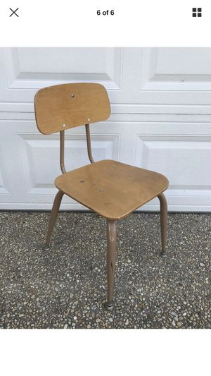 Vintage mid century modern childs student desk chair eames style wood metal retro for Sale in Washington, DC